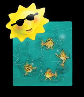 Fun in the Sun shirt design - Airbrush Colored Pencil & Photoshop | Diane Gronas