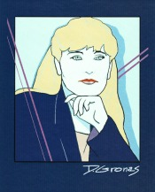 Self Portrait in manner of Patrick Nagel in Painter | Diane Gronas