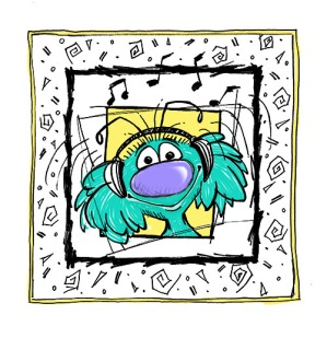 Zeek from Zark Party Time Photoshop color   Diane Gronas