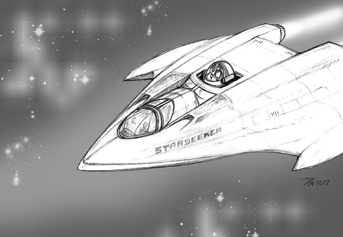 Starseeker Starfire space ship sm