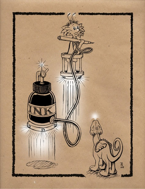 18 Ink BOTTLE & Zeek kraft