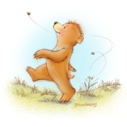 Bear & Bees by Diane Gronas